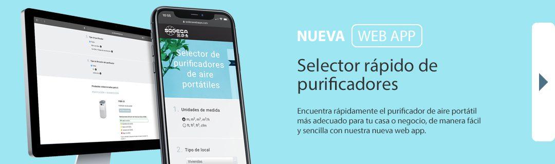 SODECA presenta su nueva web app: el selector de purificadores de aire portátiles para profesionales y usuarios