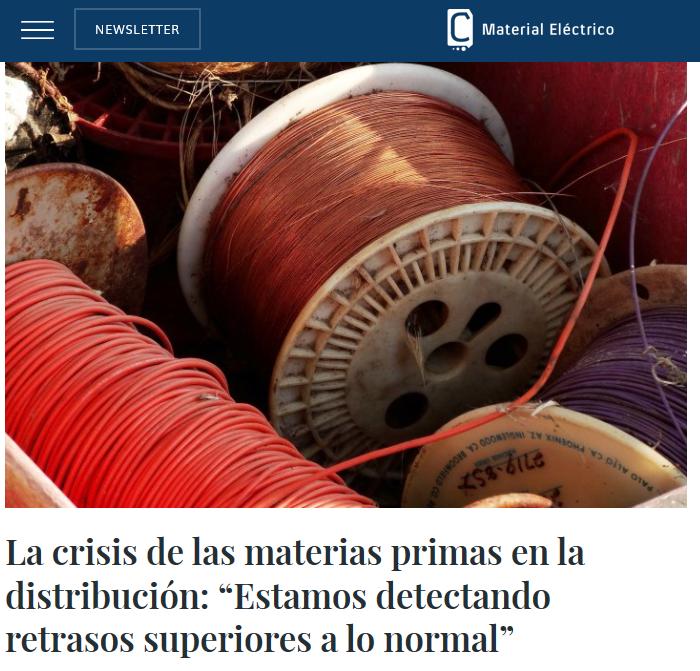 Las principales Centrales de Compra de Material Eléctrico opinan sobre la crisis de las materias primas.